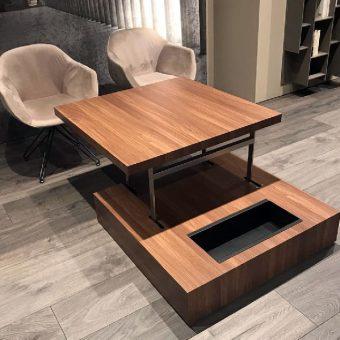 Tavolino Elevabile Flat Noce – Ozzio Italia
